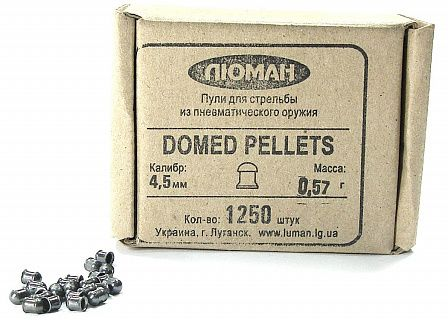 Пули Люман Domed Pellets 4,5 мм 0,57 г. (1250 шт.)